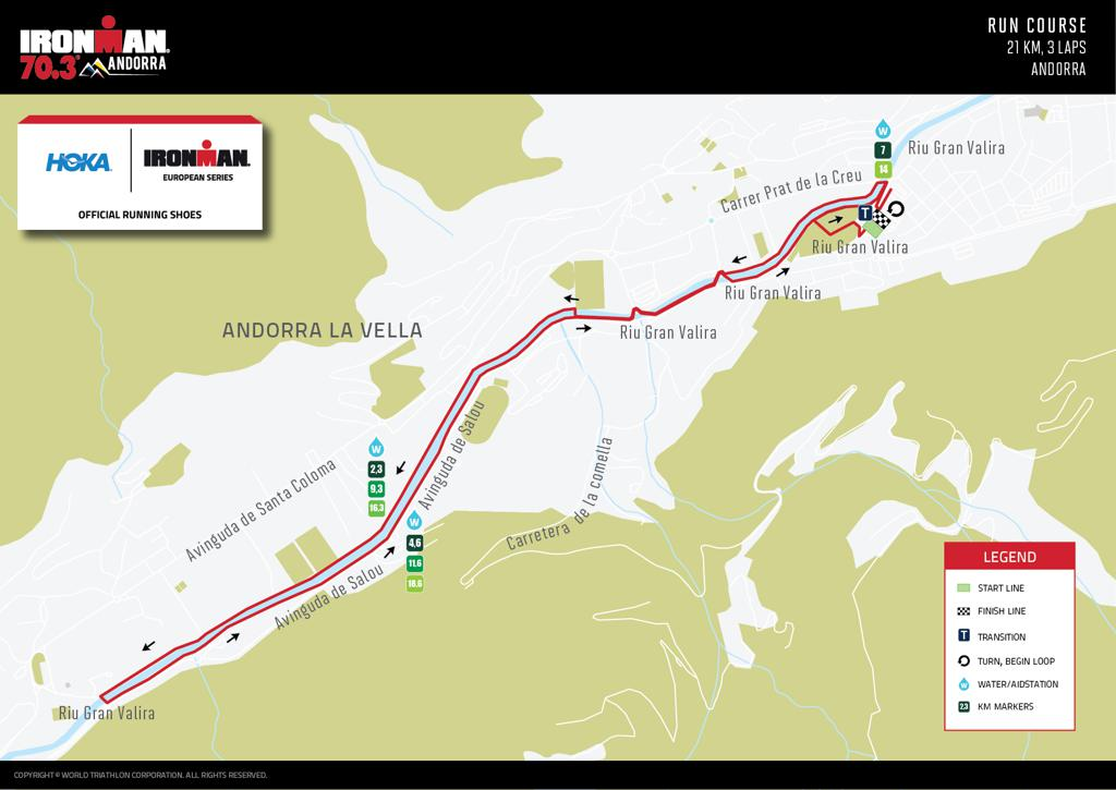 Ironman 70.3 Andorra Course Map Run