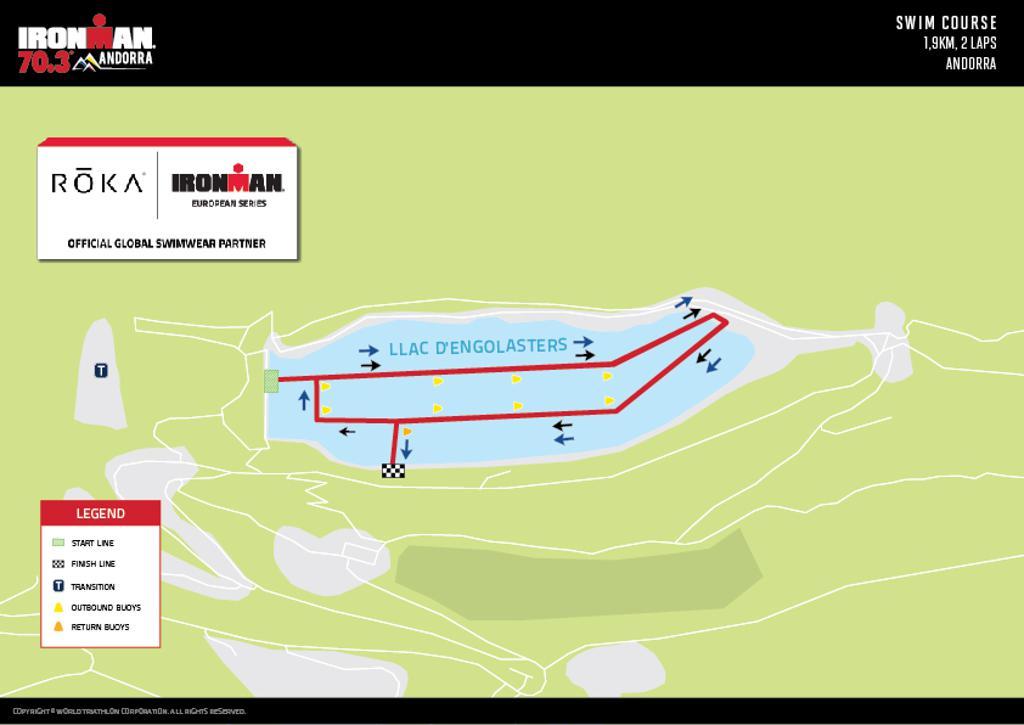 Ironman 70.3 Andorra Course Map Swim