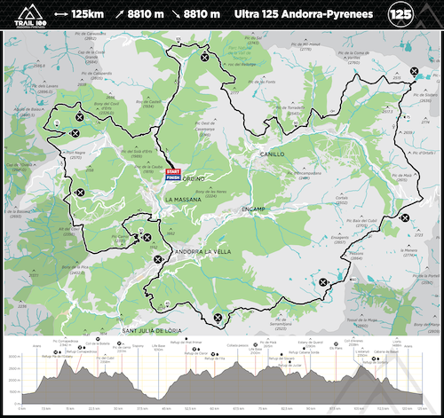 Trail100 125km Map