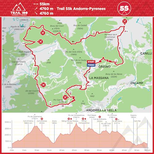 Trail100 55km Map