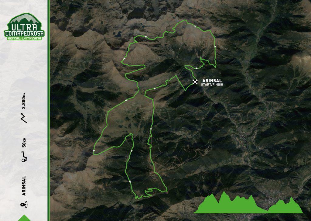 Skyrace Ultra Comapedrosa 50km Map