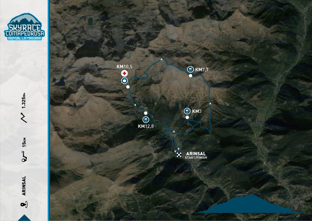 Skyrace Comapedrossa 15km Map